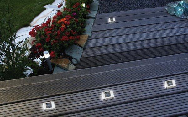 Spot pav solaire encastrable surface sol 2 led - Spot solaire terrasse ...