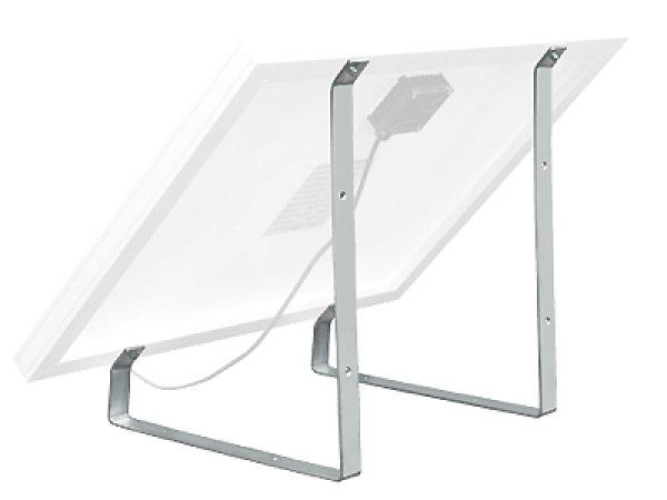 support de fixation pour panneau solaire 30w kit panneaux solaires objetsolaire. Black Bedroom Furniture Sets. Home Design Ideas
