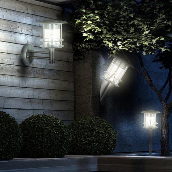 borne solaire inox 6 led bt balise borne solaires objetsolaire. Black Bedroom Furniture Sets. Home Design Ideas