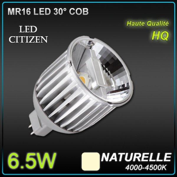 ampoule led vitrine mr16 6 5w citizen eclairage led basse tension objetsolaire. Black Bedroom Furniture Sets. Home Design Ideas