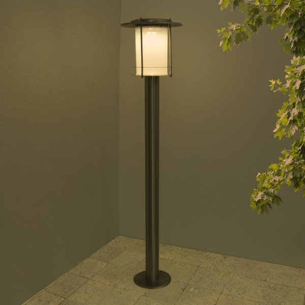 borne solaire qualit inox 8 led bt balise borne solaire objetsolaire. Black Bedroom Furniture Sets. Home Design Ideas