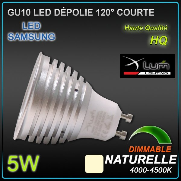 SPOT LED GU10 Samsung 5W dimmable