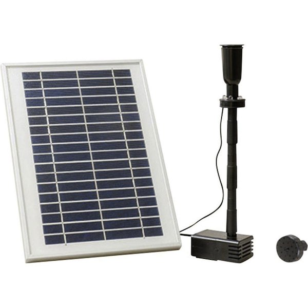 pompe fontaine solaire batterie led carla pompes. Black Bedroom Furniture Sets. Home Design Ideas