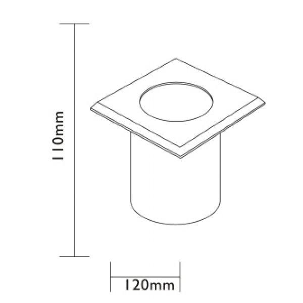 spot encastrable inox 12v sydney carr eclairage basse. Black Bedroom Furniture Sets. Home Design Ideas