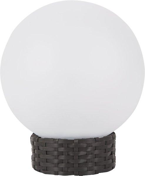 boule solaire de jardin big 250 mm sur rotin boules solaires balisage objetsolaire. Black Bedroom Furniture Sets. Home Design Ideas