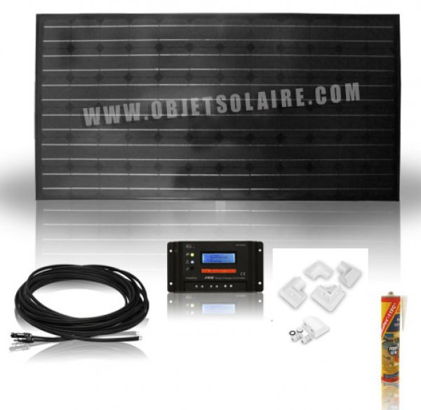 Kit Solaire Camping Car 100W 12v
