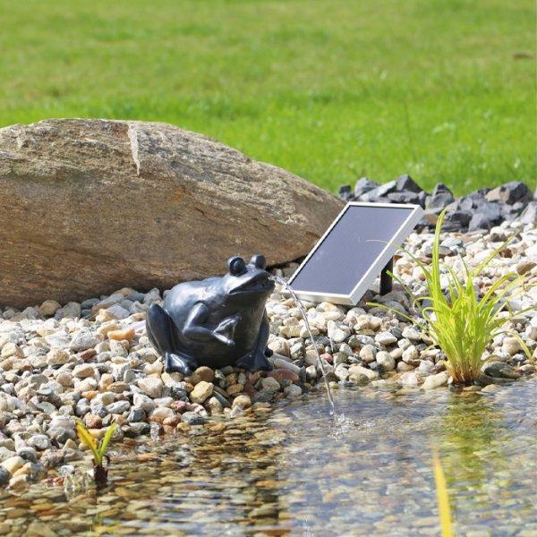 pompe fontaine solaire jet d 39 eau grenouille np9 pompes fontaines solaires objetsolaire. Black Bedroom Furniture Sets. Home Design Ideas
