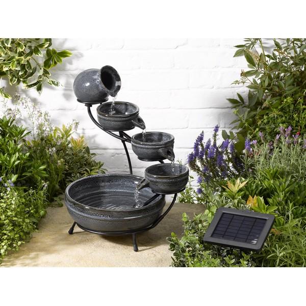 Fontaine solaire cascade photovolta que granit aphrodite fontaines solaires objetsolaire - Fontaine solaire exterieur ...