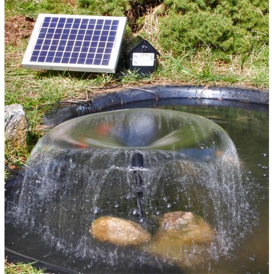 Pompe solaire jet d 39 eau batterie et leds 8 w 800l h pompes fontaines solaires objetsolaire - Pompe bassin solaire ...