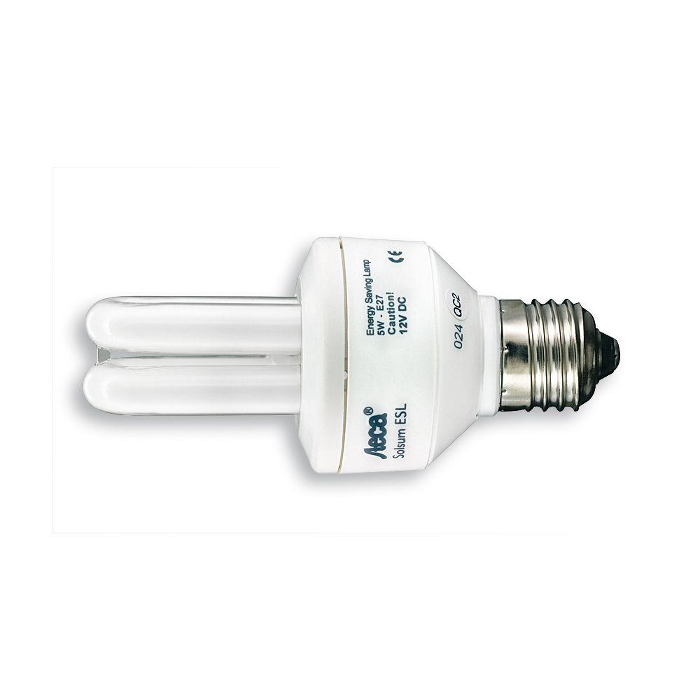 ampoule fluocompacte dc 12v 5w e27 sur le site internet objetsolaire. Black Bedroom Furniture Sets. Home Design Ideas