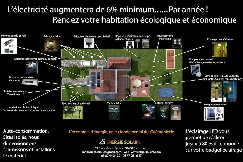 Jardin solaire - Exemple de Jardin Solaire   Objetsolaire