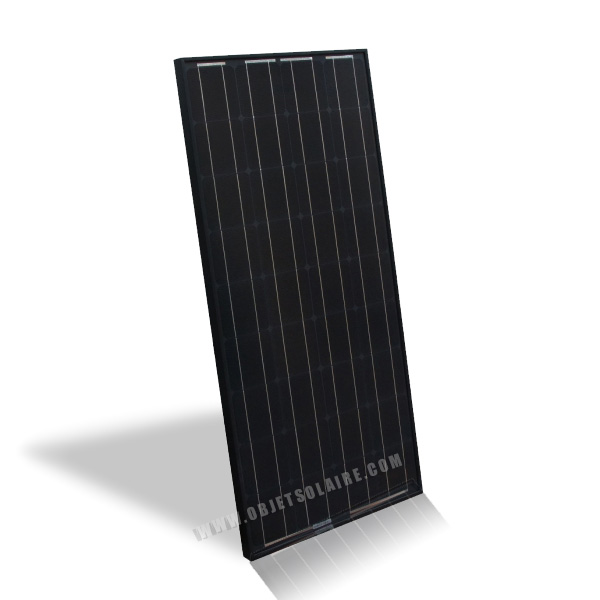 panneau solaire noir 100w 12v panneau photovolta que objetsolaire. Black Bedroom Furniture Sets. Home Design Ideas