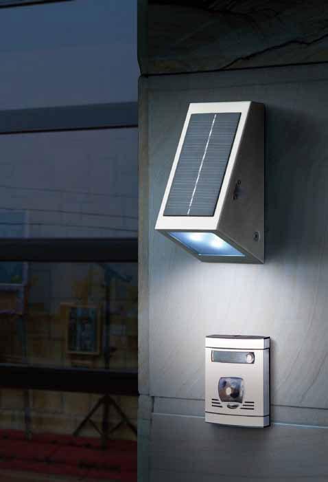 applique solaire murale inox bt 4 led appliques solaires. Black Bedroom Furniture Sets. Home Design Ideas