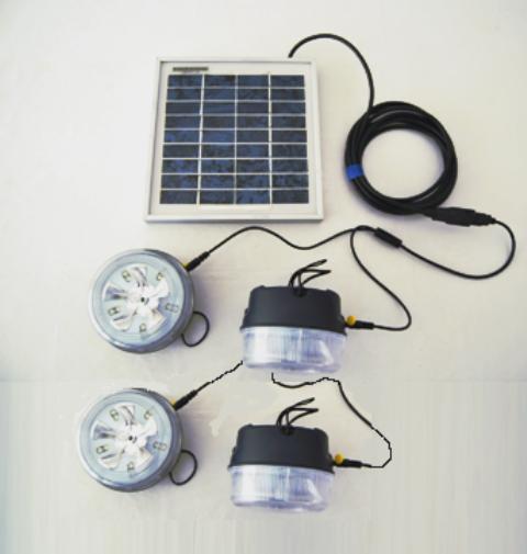 kit eclairage solaire 4 lampes solt kit eclairage solaire objetsolaire. Black Bedroom Furniture Sets. Home Design Ideas