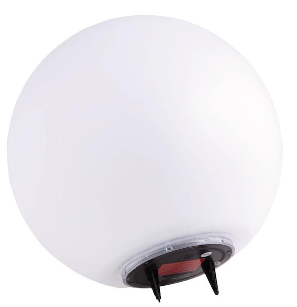 boule solaire de jardin 2 led osram 300 mm boules solaires balisage objetsolaire. Black Bedroom Furniture Sets. Home Design Ideas