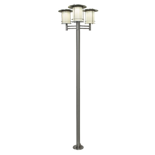 Lampadaire solaire puissant inox 3 t tes bt eclairage for Catalogue eclairage exterieur