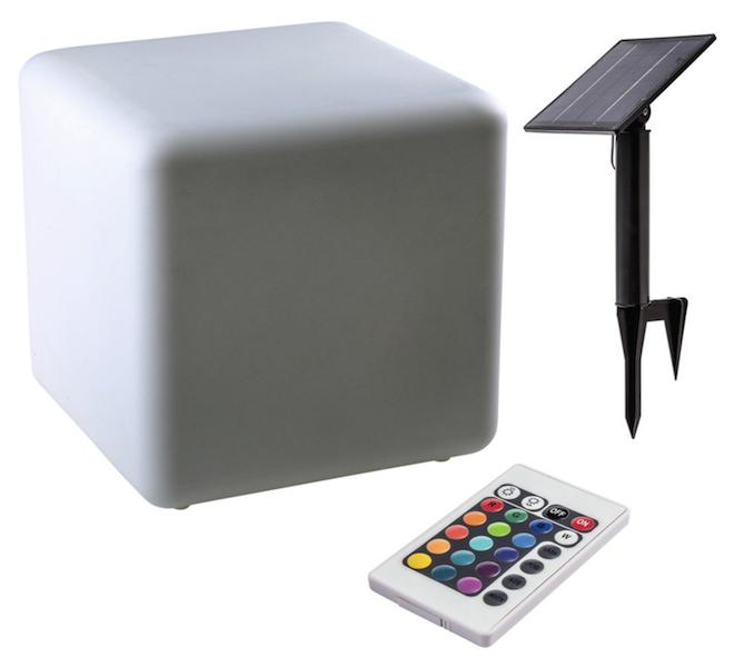 ... Cube Solaire Lumineux 40 Cm Couleur Télécommande ...