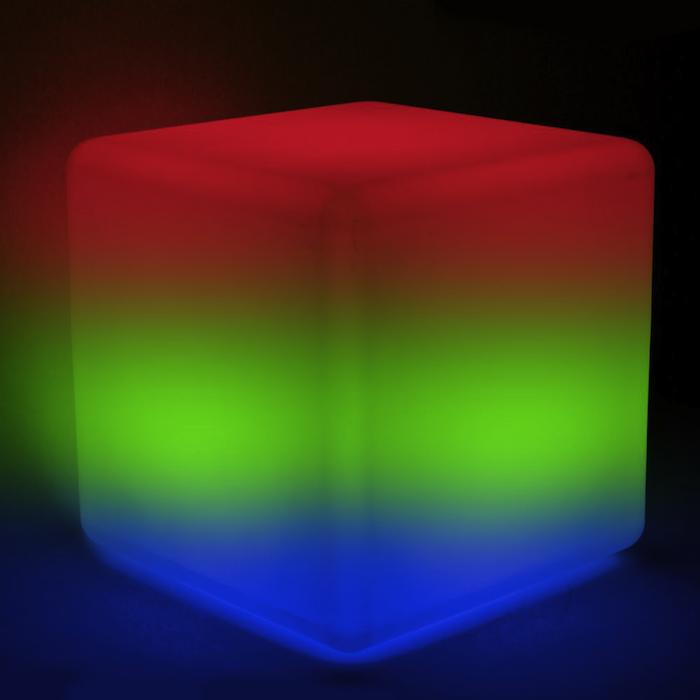 Cube Solaire Lumineux 30 Cm Couleur Télécommande ...