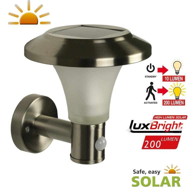 applique solaire puissante d tecteur de mouvement calais 200 lumens appliques solaires. Black Bedroom Furniture Sets. Home Design Ideas