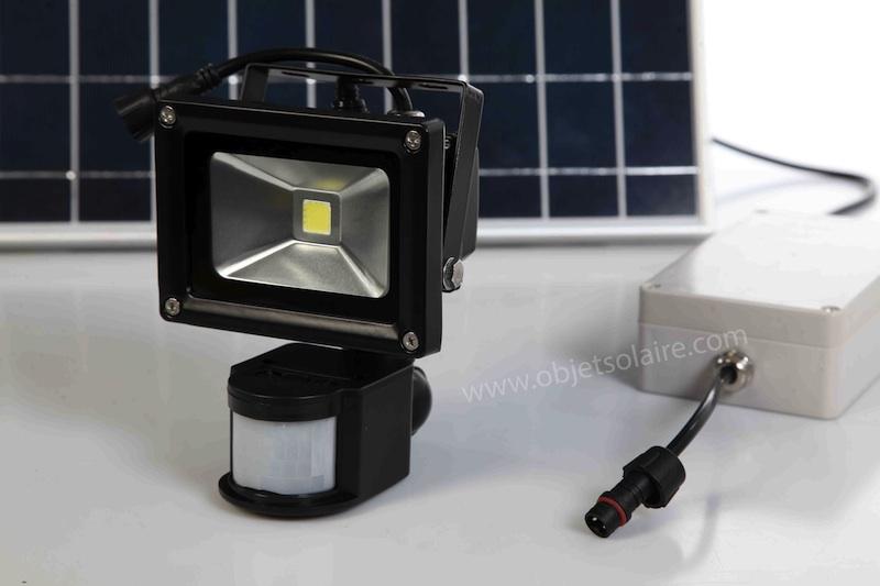 Projecteur solaire puissant 1000 lumens d tecteur - Projecteur solaire puissant ...