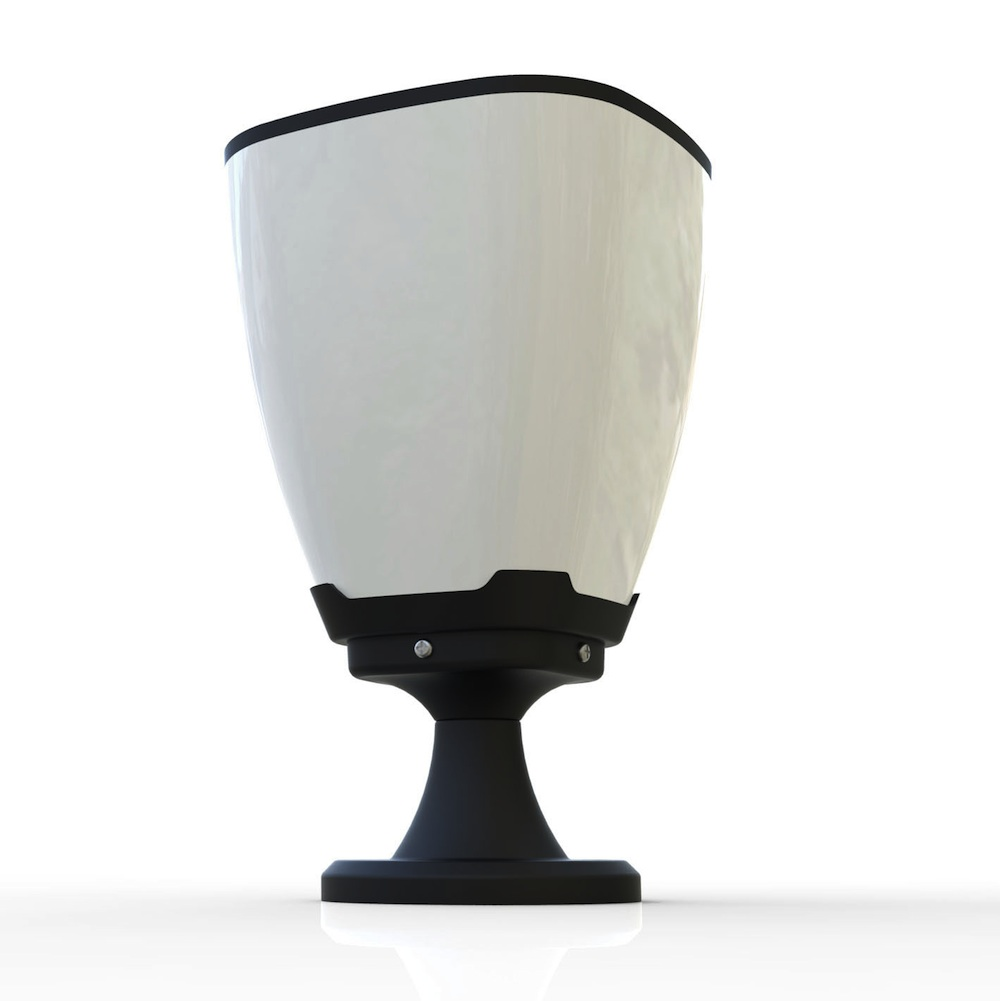 lampe solaire de poteau puissante 100 lumens julia ip65 lampes solaires puissantes objetsolaire. Black Bedroom Furniture Sets. Home Design Ideas