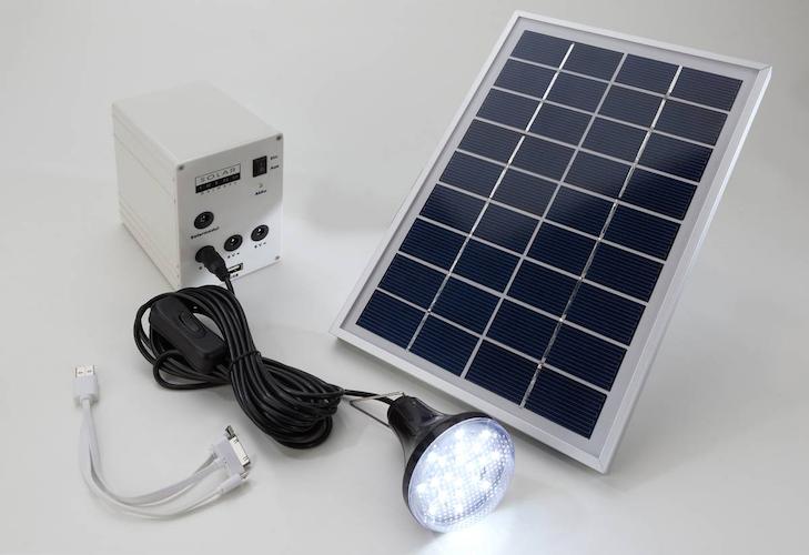kit d 39 eclairage solaire panneau 5w 1 lampe led sud kit eclairage solaire objetsolaire. Black Bedroom Furniture Sets. Home Design Ideas