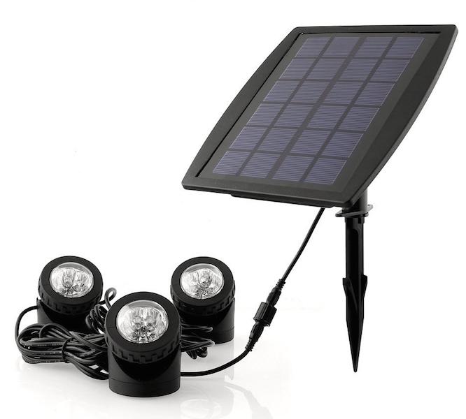 Spots solaires puissants submersibles 160 lumens ip68 for Spot solaire 200 lumens