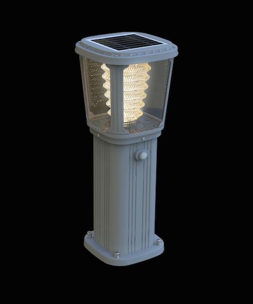 Borne solaire puissante zs gl03 200 lumens ip 65 bornes for Desherbant puissant pour allees