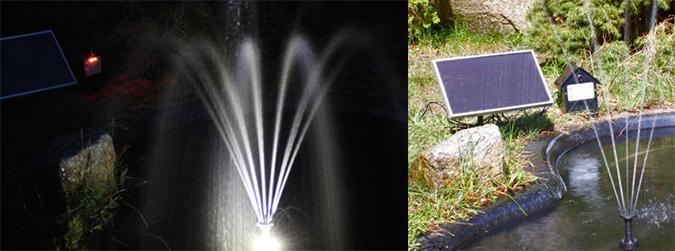 Fontaine Solaire Jet d'eau