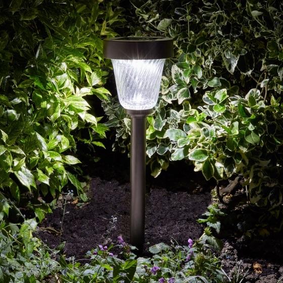 lampe solaire led inox verre 50 lumens capella balises. Black Bedroom Furniture Sets. Home Design Ideas