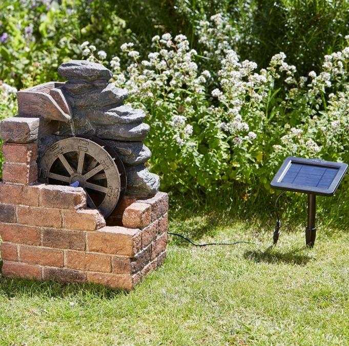 Fontaine Solaire Roue De Moulin Fontaines Cascades Solaires Jardin Objetsolaire