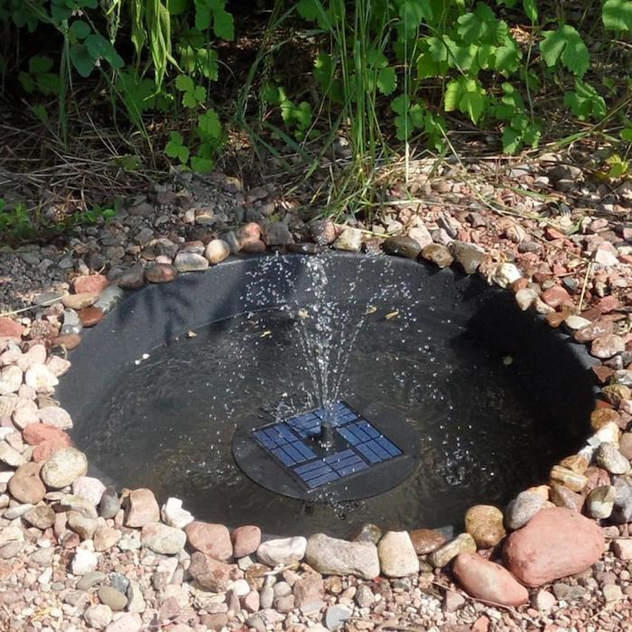 LUXJET Pompe à Eau Solaire de 5W Fontaine de Jardin Solaire avec Débit Maximu...