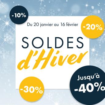 <span>SOLDES D'HIVER </span> 2021