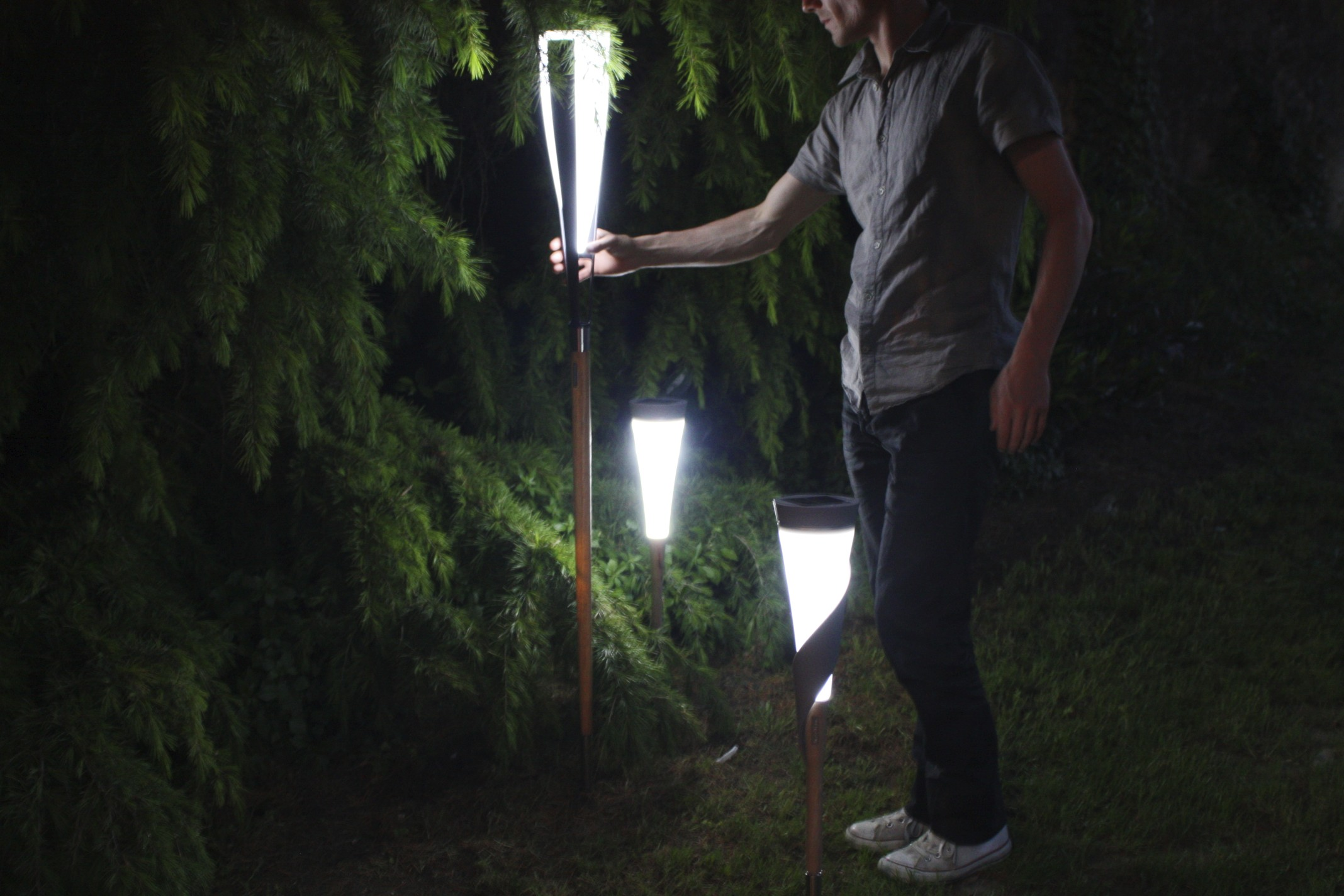 Eclairage Solaire Pour Jardin lampe solaire design roseau court - balise borne solaire | objetsolaire