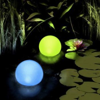 D coration boule solaire flottante multicolore d couvrez - Boule lumineuse piscine ...