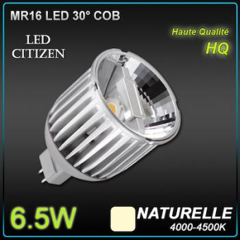Ampoule Led Vitrine MR16 6.5W Led Citizen 30° 4000K