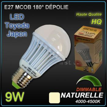 Ampoule LED E27 M-COB 9W Dimmable