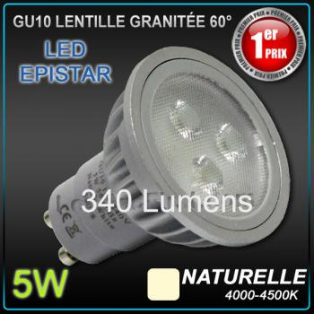 Photo Ampoule LED GU10 EPISTAR 5W
