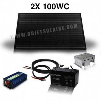 Kit Solaire Complet 200W-12-230V-100 A mono