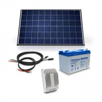 Kit Solaire Complet 12V DC 260W 100A Poly