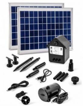 Pompe fontaine solaire jet d\'eau pour bassin - Kit Pompes solaires ...