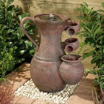 Fontaine Solaire Cascade Cruche Pitcher Batterie