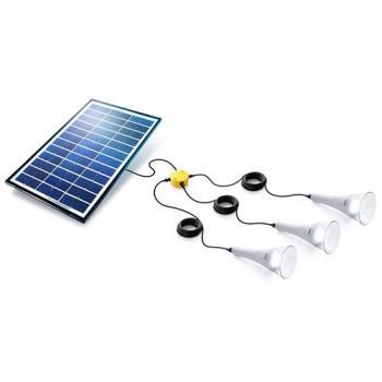 Kit eclairage solaire 3 4 lampes kit eclairage solaire for Eclairage solaire interieur