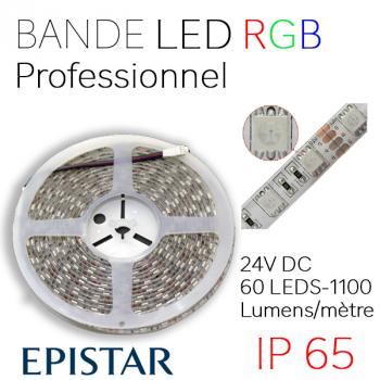 Ruban LED RGB Qualité Professionnelle EPISTAR 24V