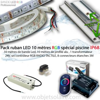 Kit Ruban Led 10 Mètres Piscine RGB IP68