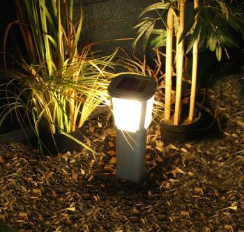Potelet eclairage exterieur avec detecteur elegant - Borne d eclairage exterieure avec detecteur ...