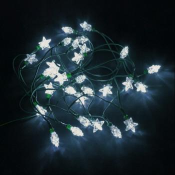 Guirlande Solaire Etoiles 30 Leds Blanches