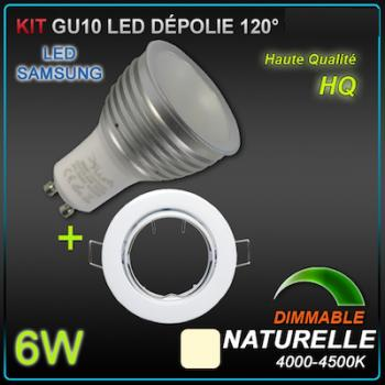 KIT 10 SPOTS LED GU10 Samsung 6W dimmables