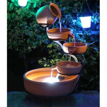 Fontaine cascade solaire sur le site internet Objetsolaire