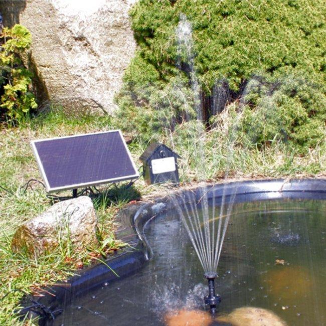 pompe fontaine solaire de bassin batterie et led rgb 250l. Black Bedroom Furniture Sets. Home Design Ideas